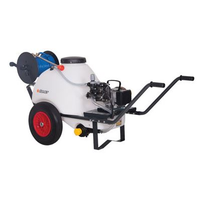 Comet 120 Ltr Wheelbarrow Sprayer 18.5 Ltrs Min 230 Volt Electric Pump